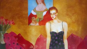 Who is That Girl? 1984 50x85 Super Huge  Original Painting - Joanna Zjawinska