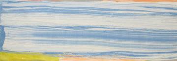 Blue Bonac 27x76 Super Huge Original Painting - Larry Zox