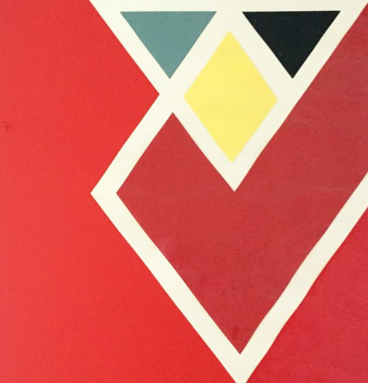 Diamond Drill..... Scarlet AP 1971 Limited Edition Print by Larry Zox