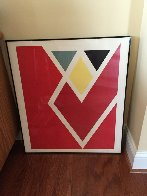 Diamond Drill..... Scarlet AP 1971 Limited Edition Print by Larry Zox - 4