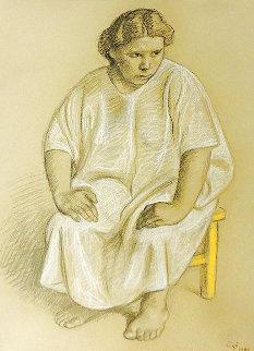 Woman 4 Drawing 1983 36x28 Drawing - Francisco Zuniga