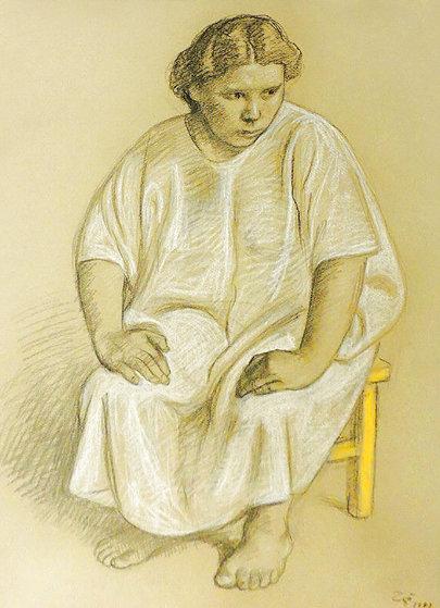 Woman 4 Drawing 1983 36x28 Drawing by Francisco Zuniga