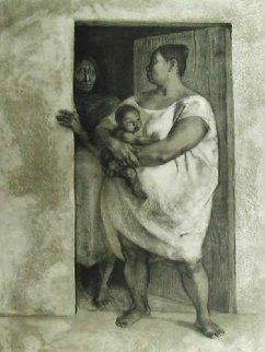 Mujeres con Nino en La Puerta 1977 Limited Edition Print by Francisco Zuniga