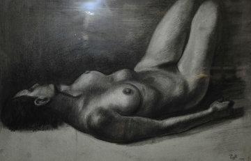 Reclining Female Nude Drawing 1979 Drawing - Francisco Zuniga