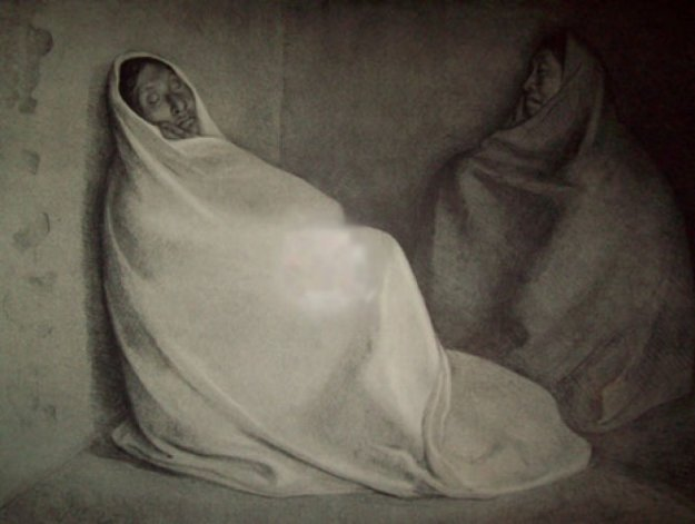 Dos Mujeres Sentadas (Two Seated Women) 1978 Limited Edition Print by Francisco Zuniga