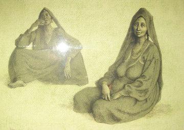 Two Women Limited Edition Print - Francisco Zuniga