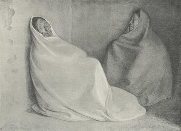 Dos Mujeres Sentadas Limited Edition Print - Francisco Zuniga