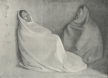 Dos Mujeres Sentadas Limited Edition Print by Francisco Zuniga