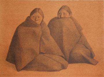 Chamulas Rojo Limited Edition Print - Francisco Zuniga