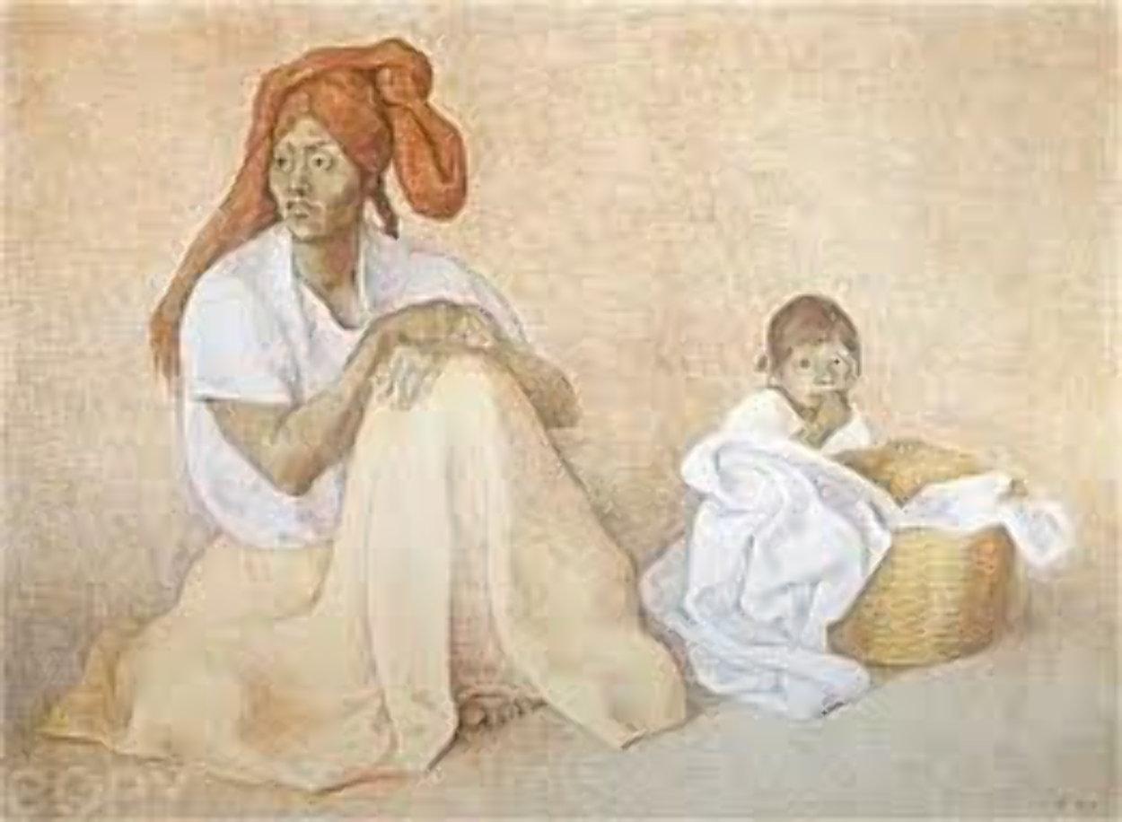 Mujer En El Mercado, II (Woman in the Market) 1983 Limited Edition Print by Francisco Zuniga