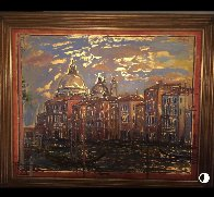 Grand Canal From Campo San Mauritzio 2004 25x32 Original Painting by Bruno Zupan - 3