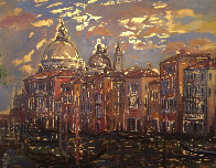 Grand Canal From Campo San Mauritzio 2004 25x32 Original Painting by Bruno Zupan - 0