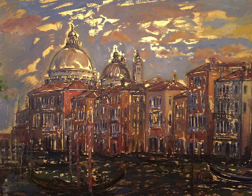 Grand Canal From Campo San Mauritzio 2004 25x32 Original Painting - Bruno Zupan