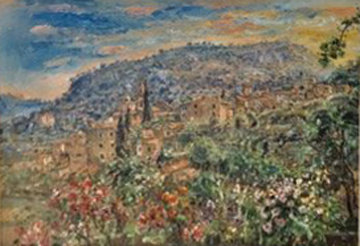 Gardens in My Village 1997 55x67 Original Painting - Bruno Zupan