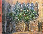 Untitled (Gothic Windows) 1990 39x46 Original Painting - Bruno Zupan