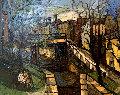 Canal 1965 33x40 Original Painting - Bruno Zupan