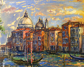 Grand Canal From Campo San Mauritzio 2004 25x32 Super Huge Original Painting - Bruno Zupan