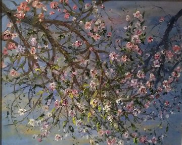 Almond Branches 31x36 Original Painting - Bruno Zupan