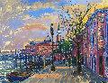 Untitled Landscape 41x38 Original Painting - Bruno Zupan