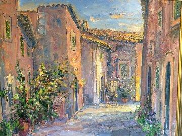 Artist on My Street  2002 34x42 Original Painting - Bruno Zupan