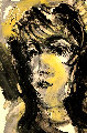 Untitled Portrait of a Woman 1976 32x24 Works on Paper (not prints) - Anatoly Zverev