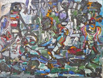Untitled Painting 24x32 Original Painting - Anatoly Zverev