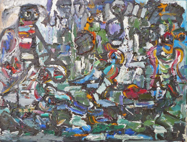 Untitled Painting 24x32 Original Painting by Anatoly Zverev
