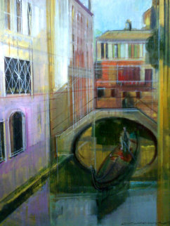 Venice Golden Dawn 28x24 Original Painting by Alex Zwarenstein