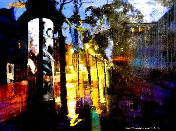 Paris Promenade 2016 36x46 Super Huge Original Painting - Alex Zwarenstein