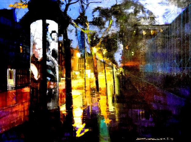 Paris Promenade 2016 36x46 Original Painting by Alex Zwarenstein