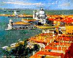 Overlooking Venice 2016 22x26 Original Painting - Alex Zwarenstein