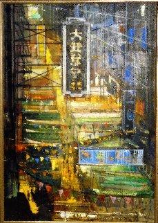 Market Street 2016 44x32 Huge (San Francisco) Original Painting - Alex Zwarenstein