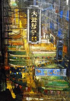 Market Street 2016 44x32 Original Painting - Alex Zwarenstein