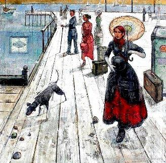Immigrants 65x55 Huge Original Painting - Alex Zwarenstein