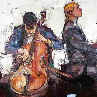 Cello Recital 23x27 Original Painting - Alex Zwarenstein