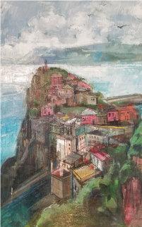 Cinque Terre 44x32 Original Painting - Alex Zwarenstein