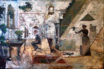 Capturing Alice 2014 32x48 Original Painting - Alex Zwarenstein