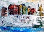 But February Was Fine 2014 18x24 Original Painting - Alex Zwarenstein