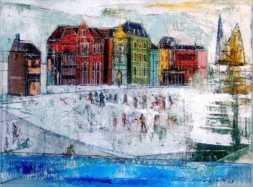 But February Was Fine 2014 18x24 Original Painting by Alex Zwarenstein