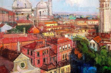 Venice Light 2014 Italy 18x24 Original Painting by Alex Zwarenstein
