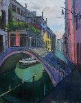 Summer Colors in Venice 30x24 Original Painting - Alex Zwarenstein