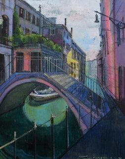 Summer Colors in Venice 30x24 Original Painting by Alex Zwarenstein