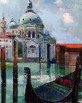 Santa Maria Della Salute 30x24 Original Painting - Alex Zwarenstein
