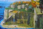 Cliff Villas 24x36 Original Painting - Alex Zwarenstein