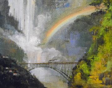 Victoria Falls 24x30 Africa Original Painting by Alex Zwarenstein