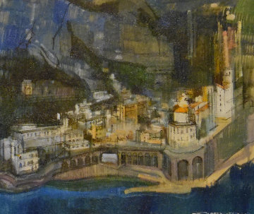 Positano Amalfi Coast 20x24 Original Painting - Alex Zwarenstein